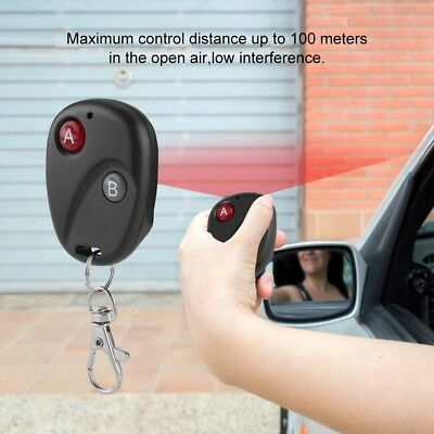 1/2/3/4-Button 433MHz Wireless Remote Control Key Transmitter For CarGarage Door