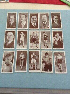 1938 Churchman's Cigarettes Boxing Personality Cards Thirteen WB1