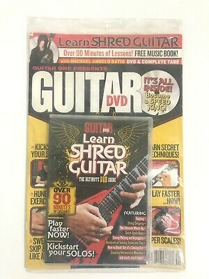 New Sealed LEARN SHRED HEAVY METAL GUITAR WORLD DVD & Music Book