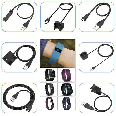 USB Charger Cable Lead For Fitbit Alta /HR/Blaze/Charge 2 3 /Surge/Versa/Ionic