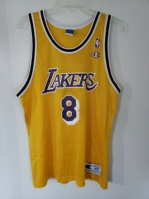 6ee8022a347 Rare Vintage NBA Los Angeles Lakers Kobe Bryant 8 Champion Rookie Jersey 44  L