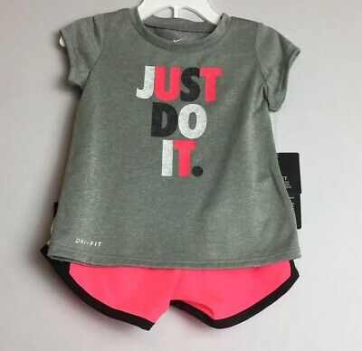 New Nike  Dri-Fit Toddler Baby Girls 2 Piece Set Size 18 Months
