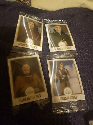 harry potter chocolate frog cards godric g, salazar, helga h and jocunda sykes