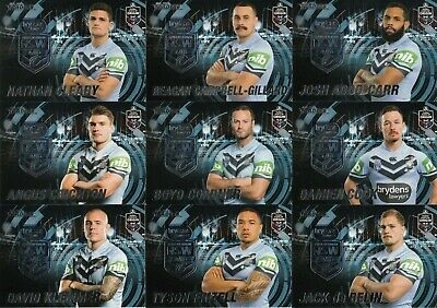 2019 Nrl Traders State Of Origin Stars Trading Cards - Nsw Blues & Qld Maroons