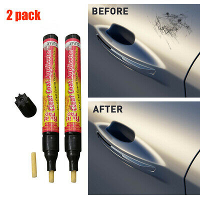 2X Scratch Magic Eraser Repair Pen Non Toxic Car Clear Coat Applicator Fix Pen