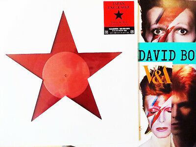 """DAVID BOWIE Is Blackstar JAPAN Exhibition ONLY 12"""" Red Vinyl Poster Leaflet NEW"""