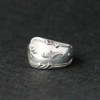 Antique Vintage - Silver Spoon Ring - Handcrafted from Antique cutlery Size U.5