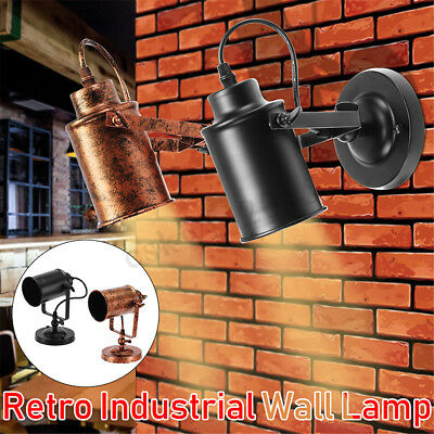 Retro Antique Industrial Loft Metal Sconce Bulkhead Wall Light Wall Lamp Fixture