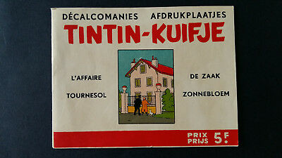 Tintin Kuifje Tim Décalcomanies bilingue +1963 Affaire Tournesol complet TTBE