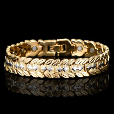 18K Gold Plating Men's Energy Magnetic Health Therapy Bracelet Wristband Jewelry