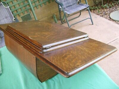 """ANTIQUE""""SINGER"""" TREADLE SEWING MACHINE WOODEN TABLE TOP ,1933 Great Condition"""