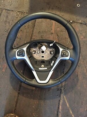 Ford Fiesta Mk8/mk9 Leather Steering Wheel With Cruise Controls 2013/2017