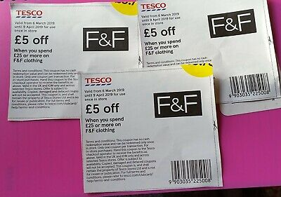 These are genuine vouchers worth £15.00 when you spend £25 or more on F&F clothi