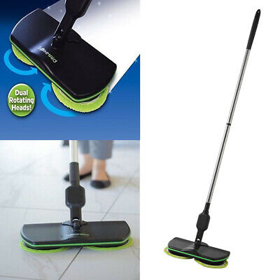 Spin Maid Rechargeable Cordless Powered Floor Cleaner Scrubber Polisher Mop NEW