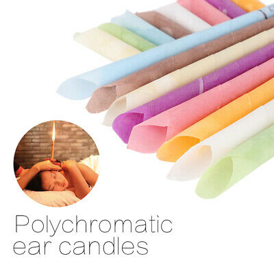 2/10Pcs Earwax candles hollow blend cones beeswax ear cleaning massage treatm GX