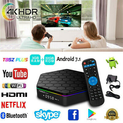 T95Z Plus 3GB 32GB Android 7.1 S912 Smart Tv Box Octa Core 2.4/5Ghz Dual WIFI 4K