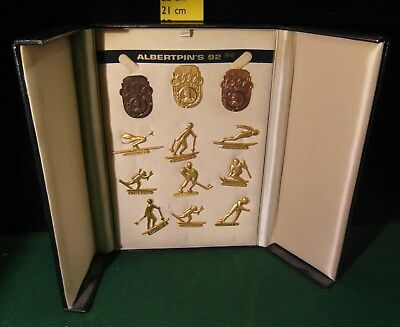 Pin's Coffret complet - ALBERTPIN'S 92 - Jeux Olympique Alberville 1992 -