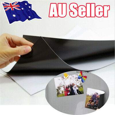 10X A4 Magnetic Magnet Sheets Self Adhesive Thickness Hand Crafts Material UN