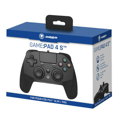 Snakebyte Black Wired Controller For PS4 NEW