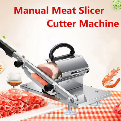 Manual Meat Slicer Beef Mutton Roll Meat Cheese Food Meat Cutter Machine Kitchen