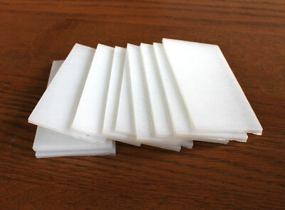Bullseye white glass - pack of 10 pieces