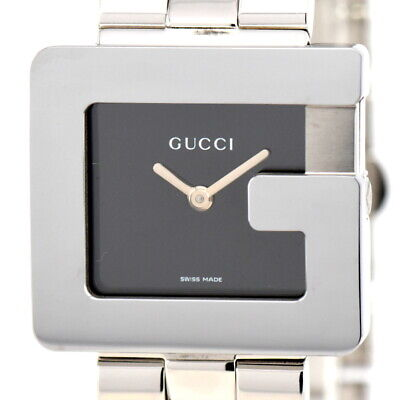 3ef14093663 Auth Gucci 3600J Stainless Steel Black Dial Quartz Boy s Watch G 84055