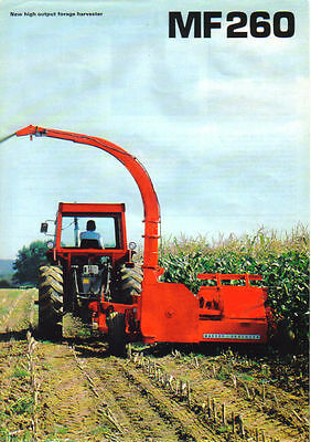Massey Ferguson 260 Forage Harvester Brochure. Immaculate Condition.