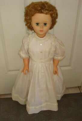VINTAGE-DOLL-WITH-White DRESS-REGAL CANADA-81cm
