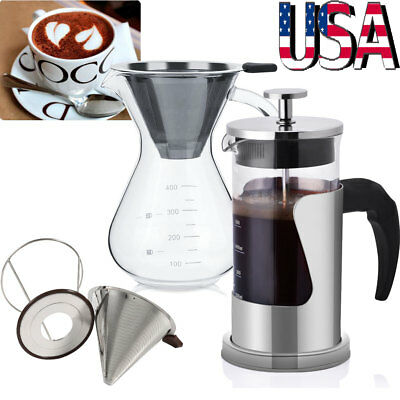 Pour Over Coffee Maker / Coffee Cone Filter - for Coffee Tea Espresso Cup Pot US