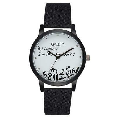GAIETY Whatever I'm Late Always Funny Mens Watches Nylon Band Quartz Wristwatch