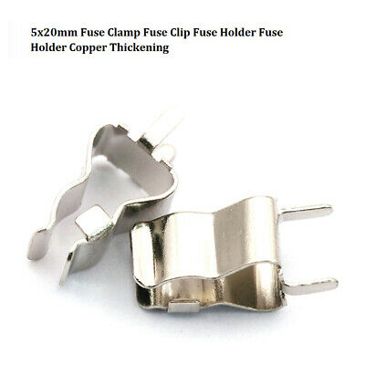10Pcs 5x20mm Fuse Clamp Fuse Clip Fuse Holder Fuse Holder Copper Thickening