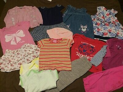 Beautiful Bundle Of Baby Girl Clothes 12-18 Months