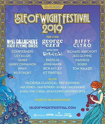 X2 Isle Of Wight WEEKEND Thurs-mon Festival Tickets 2019