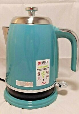 Haden 1.7 Litre 3KW Deep Teal Stainless Steel 360° Cordless Salcombe Kettle