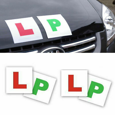 L And P Plates Pack Of 4 New Magnetic Secure Learner Driver  Exterior Car Bike