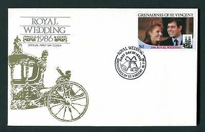 Grenadines of St Vincent 1986 FDC. Royal Wedding Prince Andrew First Day Cover
