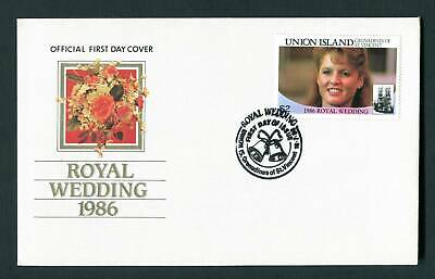 Union Island St Vincent 1986 FDC. $2 Royal Wedding  First Day Cover