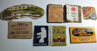 Vintage c1940's beer & cigarettes etc paper collectables (labels & papers only)