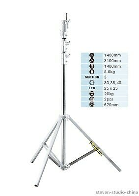 3m studio Combo Stand Tripod load 20kg for light 2k 5k HMI compact par 1.2k M18