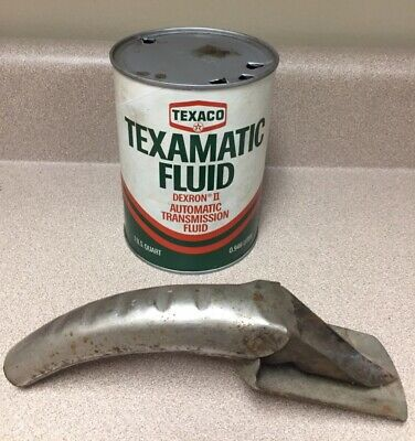 Texaco Oil Can Transmission Fluid Can with Brookins Canspout Texaco Can