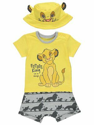 BABY BOY DISNEY THE LION KING SIMBA 3 PIECE OUTFIT - 0-3m