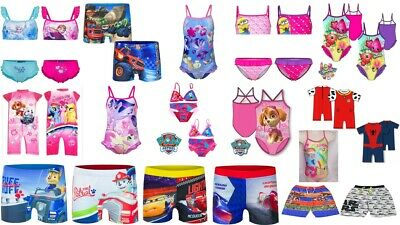Girls Boys Swimwear Shorts Trunks Swimming Costume Character Bikini OFFICIAL