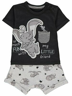 BABY BOY DISNEY DUMBO TOP AND SHORTS OUTFIT - FIRST SIZE (Up to 9lbs)