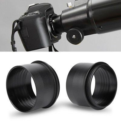 """2"""" to M48*0.75 Astronomy Telescope Eyepiece Mount Adapter Black Metal Accessory"""