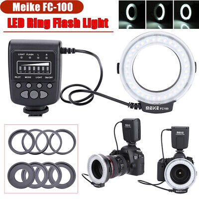 Meike FC-100 Universal LED Macro Ring Flash Video Fill Light Kit for Canon/Nikon
