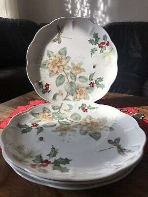 LENOX BUTTERFLY MEADOW HOLIDAY Dinner Plates - Set of 4 - New