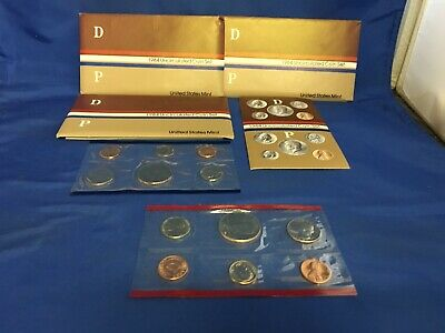3 sets of 1984 P&D US Mint Sets - 10 Coin Set Uncirculated