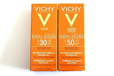 Vichy Ideal Soleil Capital Mattifying Face Fluid Dry Touch - 50ml - Choose SPF: