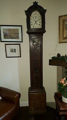 antique longcase grandfather clock very nice looking
