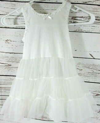 Copper Key White Fancy Pretty Toddler Girl Dress Petticoat Slip Size 2T--3T
